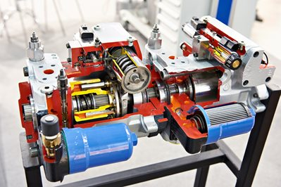 Axial piston pump in section